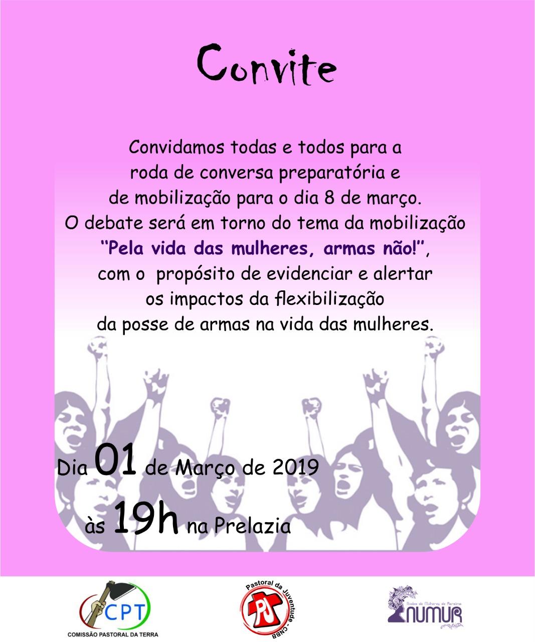 361d120e62b Em Roraima o Núcleo de Mulheres de Roraima está organizando uma mobilização  no dia 8 de março com o tema